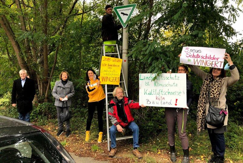 """5 neue Schilder """"Landschaftsschutzgebiet"""""""